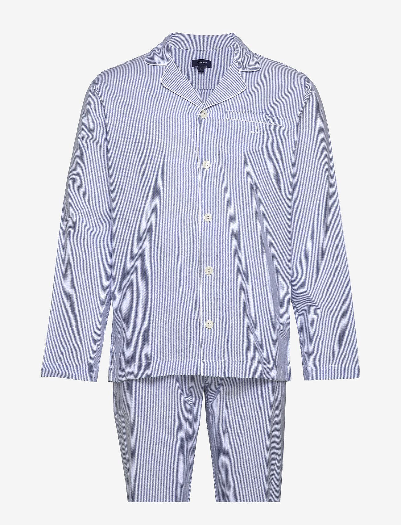 Gant - PAJAMA SET SHIRT CLASSIC STRIPE - pyjamas - white