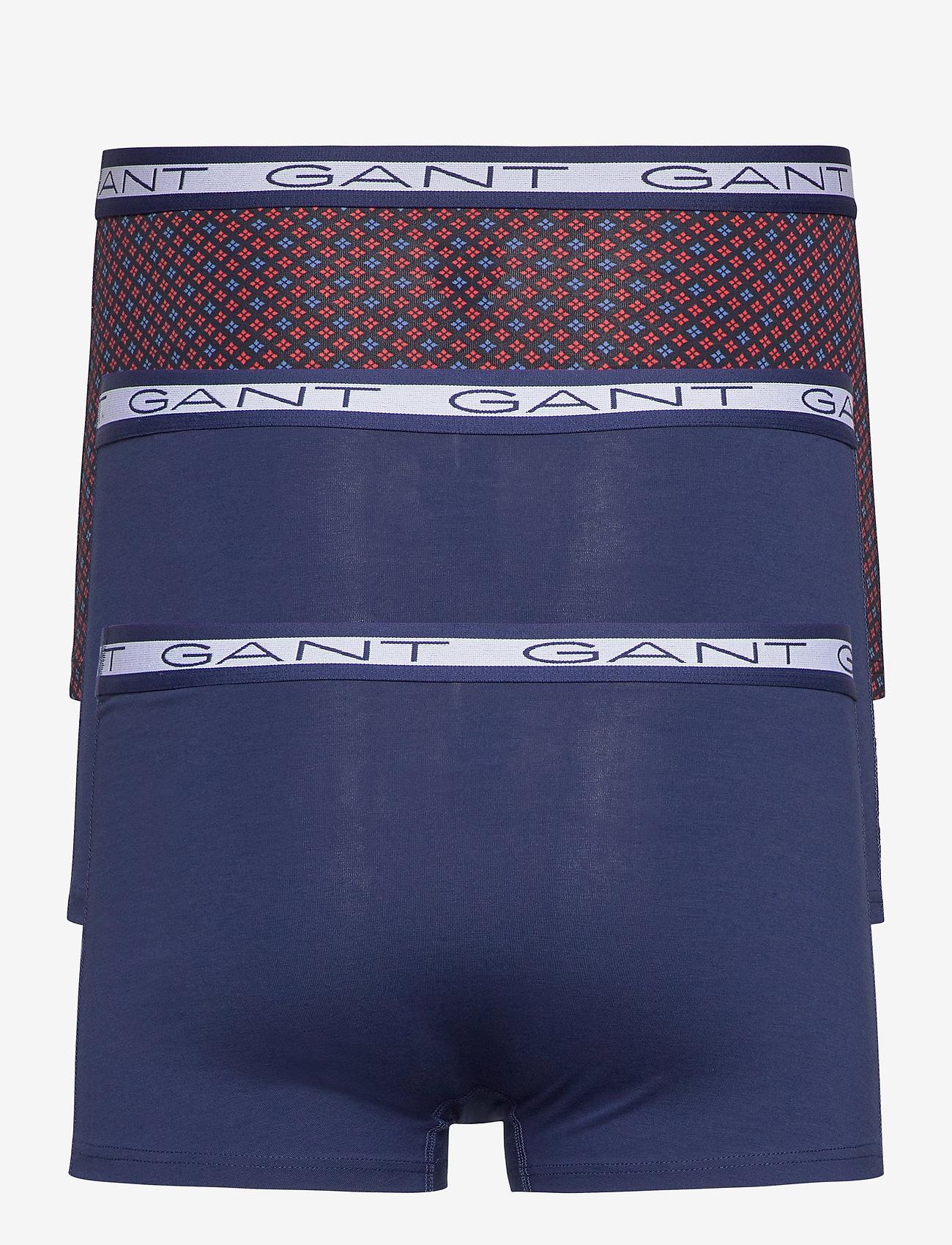 GANT 3-PACK BASIC TRUNK MINI STAR - Boxershortser PERSIAN BLUE - Menn Klær