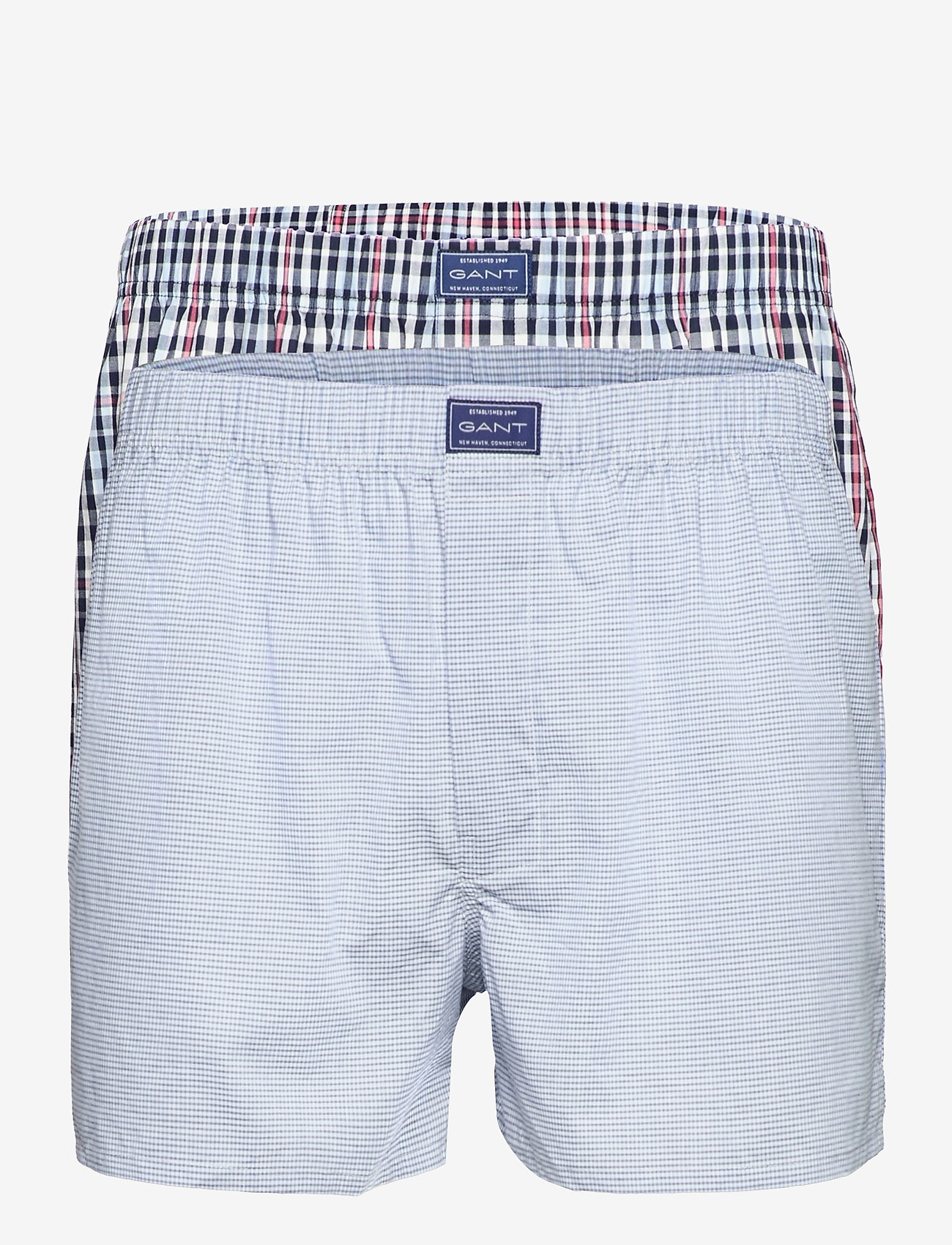 GANT - CHECK BOXER SHORTS 2-PACK - boxers - classic blue - 0