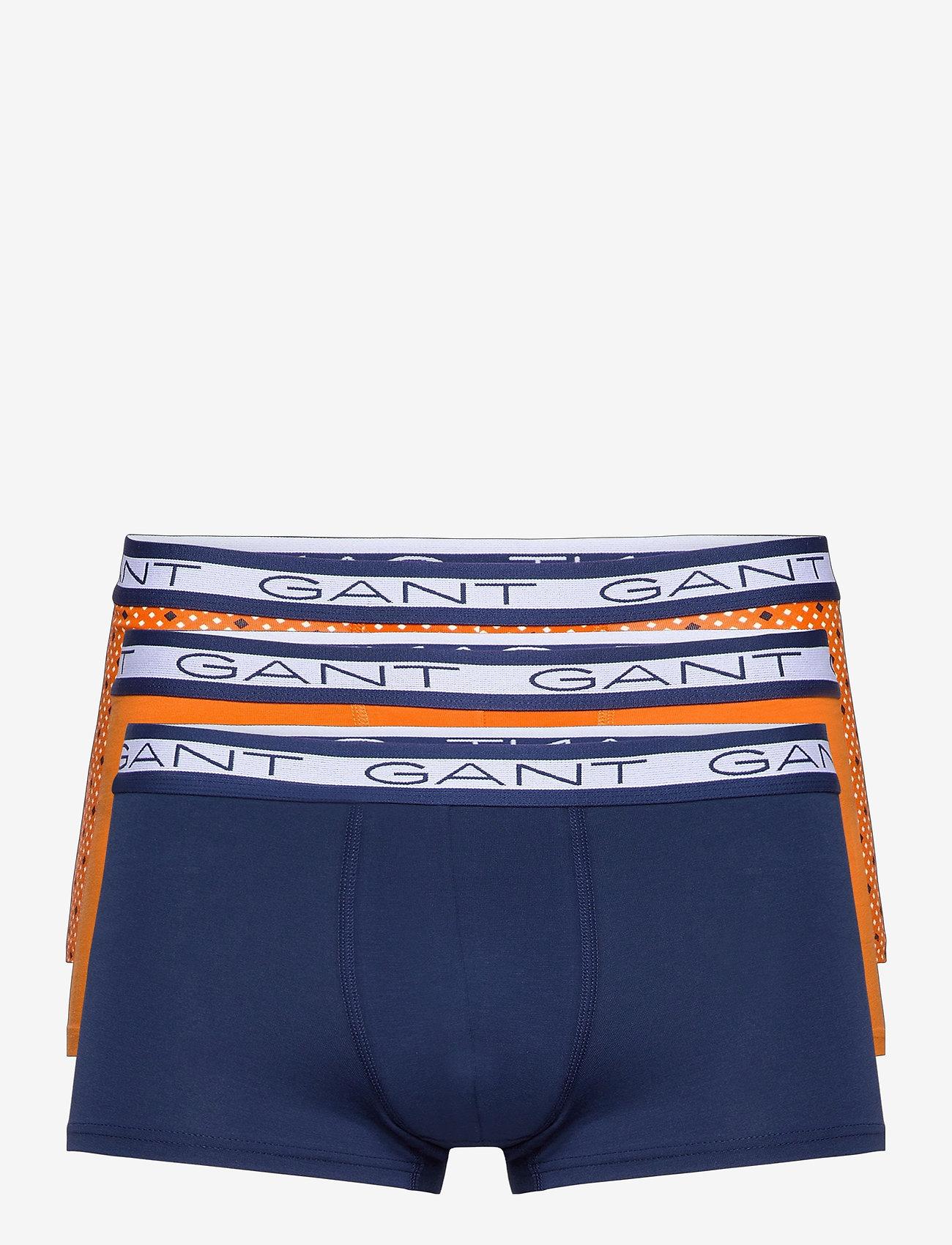 GANT - DIAMOND DOT BASIC TRUNK 3-PACK - boxers - russet orange - 0