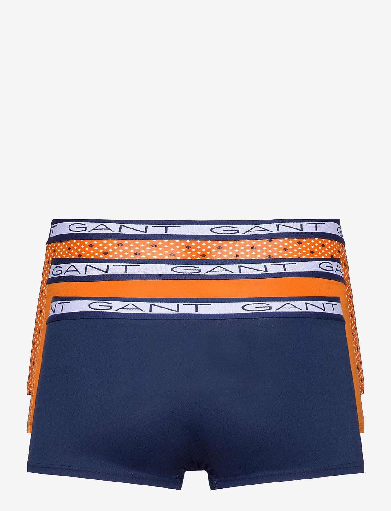GANT - DIAMOND DOT BASIC TRUNK 3-PACK - boxers - russet orange - 1