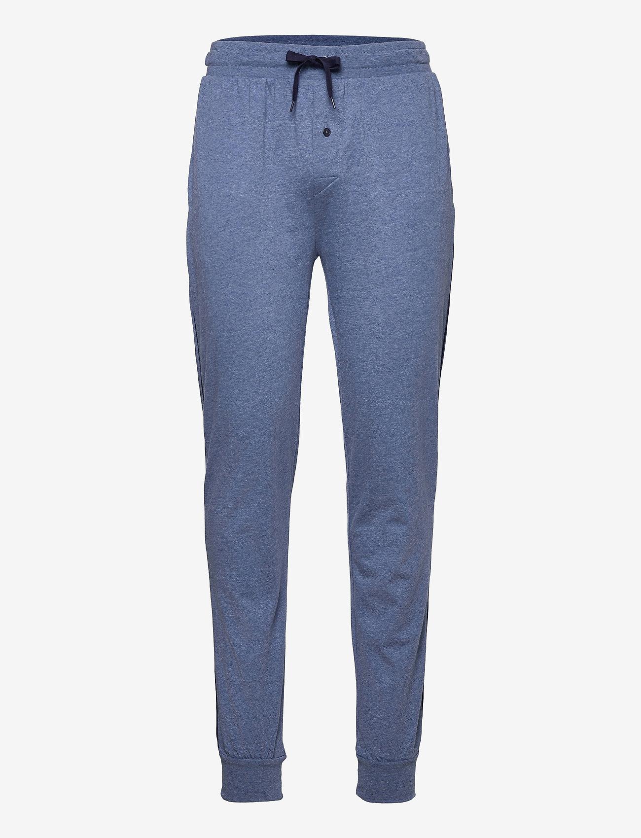 GANT - JERSEY PAJAMA PANTS - bottoms - denim blue mel - 0