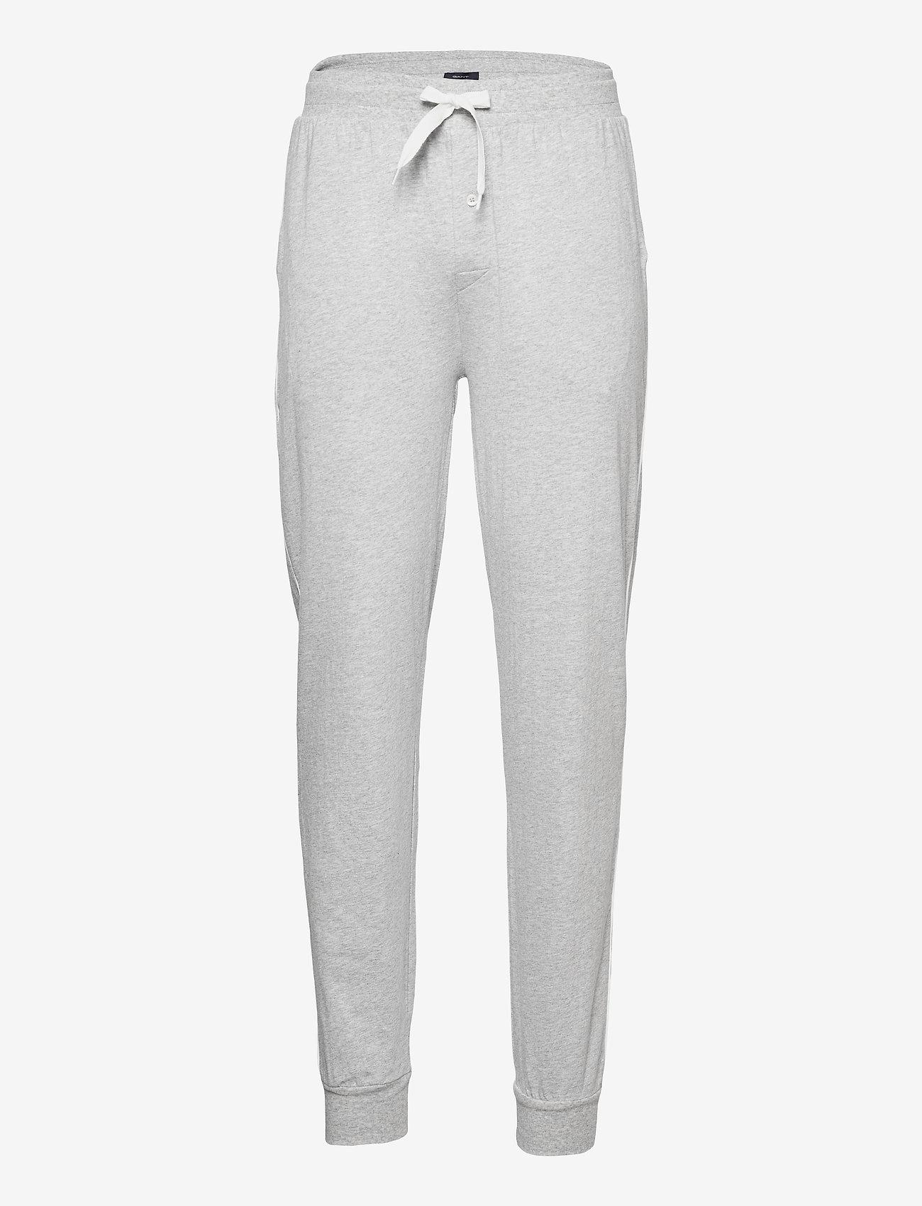 GANT - JERSEY PAJAMA PANTS - bottoms - light grey melange - 0