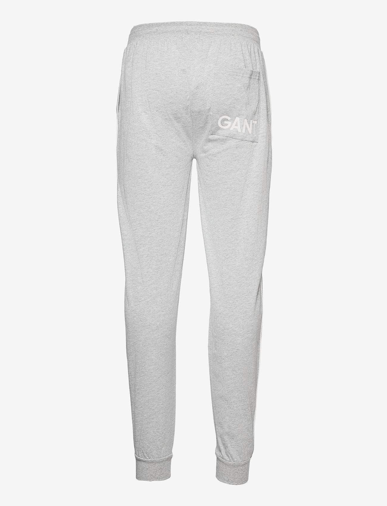 GANT - JERSEY PAJAMA PANTS - bottoms - light grey melange - 1