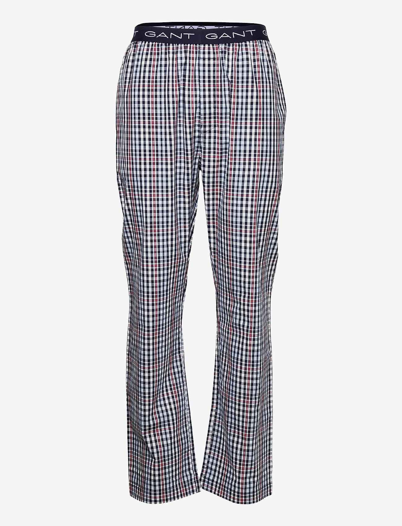 GANT - BIG CHECK PAJAMA PANTS - bottoms - classic blue - 0