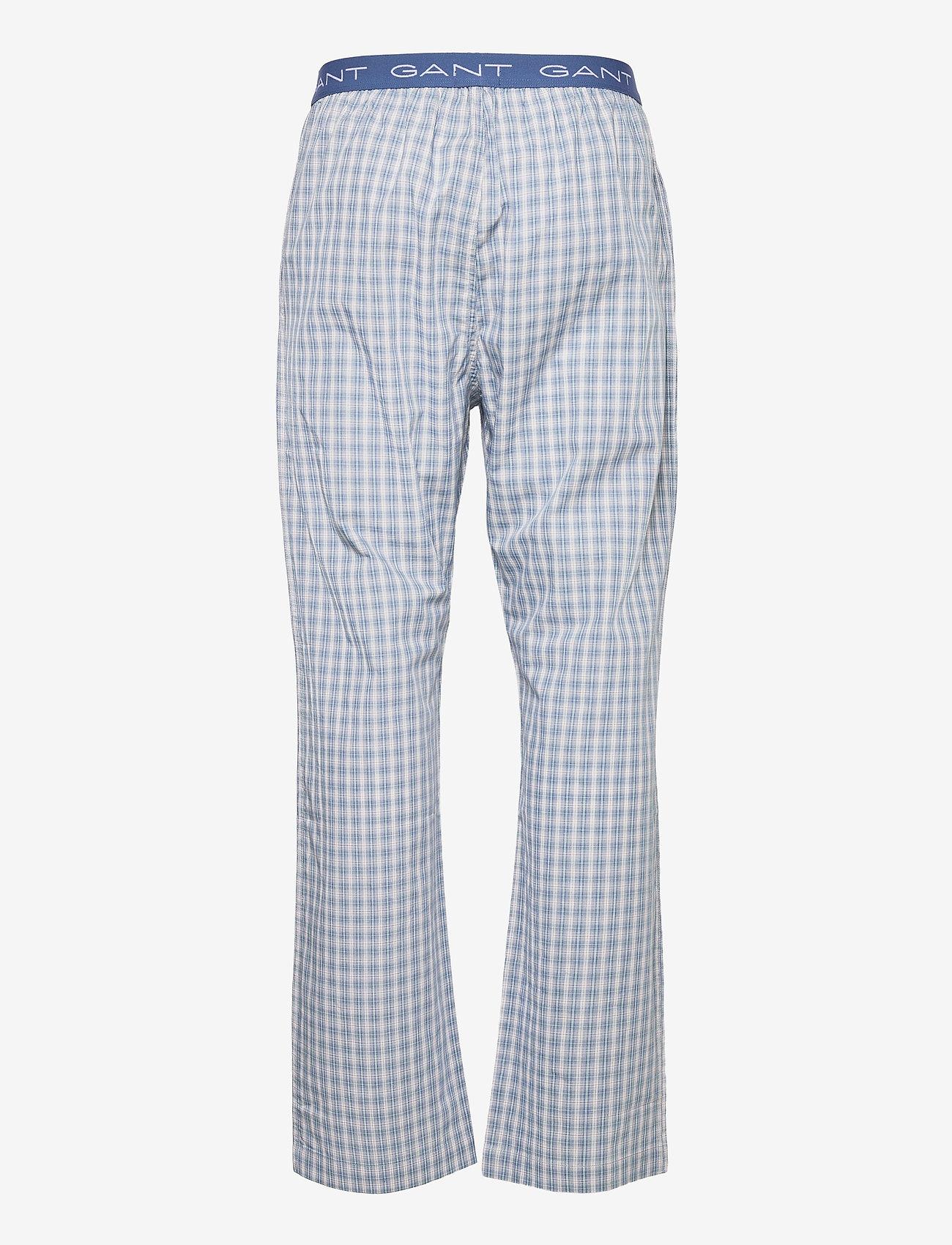 GANT - GRADIENT CHECK PAJAMA PANTS - pyjamas - salty sea - 1