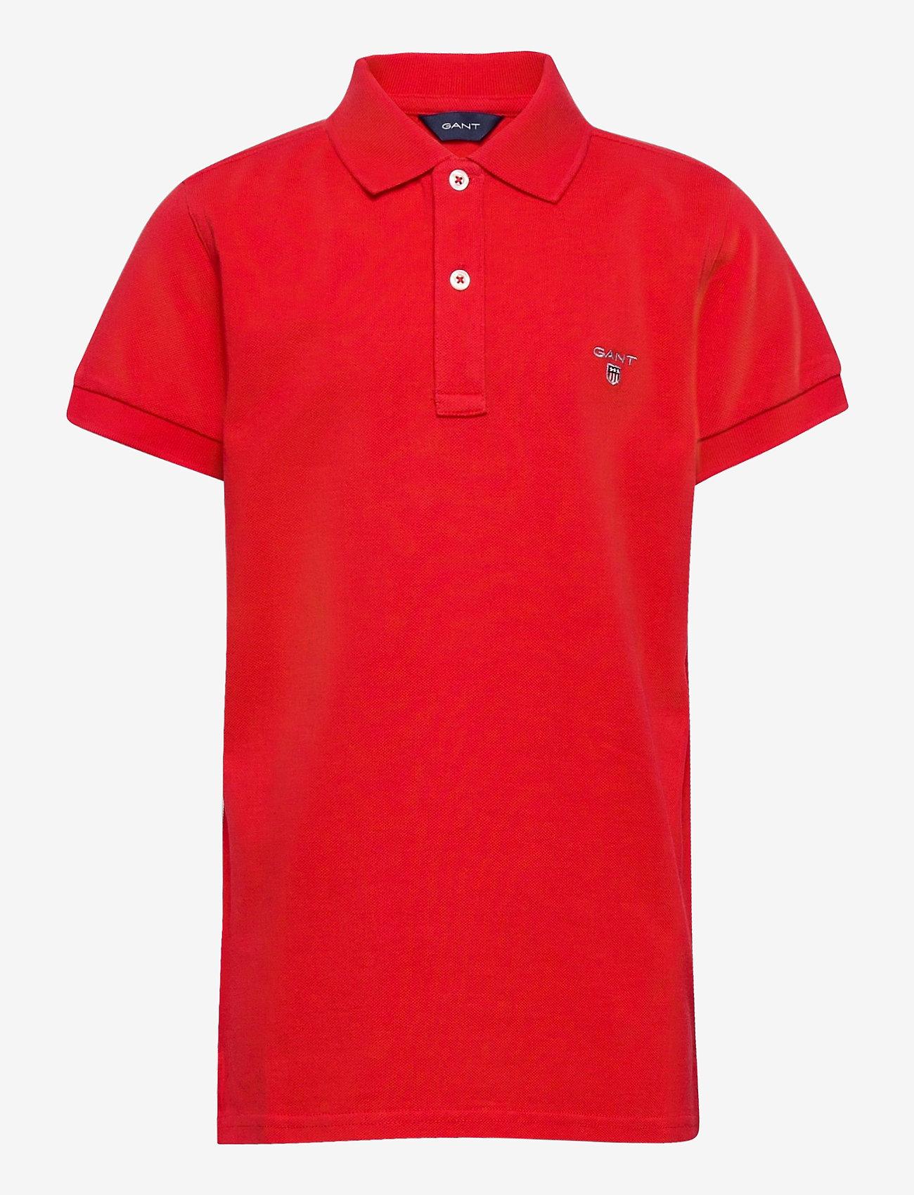 GANT - THE ORIGINAL SS PIQUE - polo shirts - bright red - 0