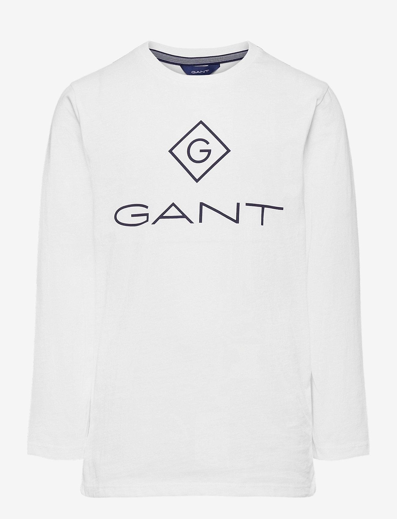 GANT - GANT LOCK-UP LS T-SHIRT - long-sleeved t-shirts - white - 0