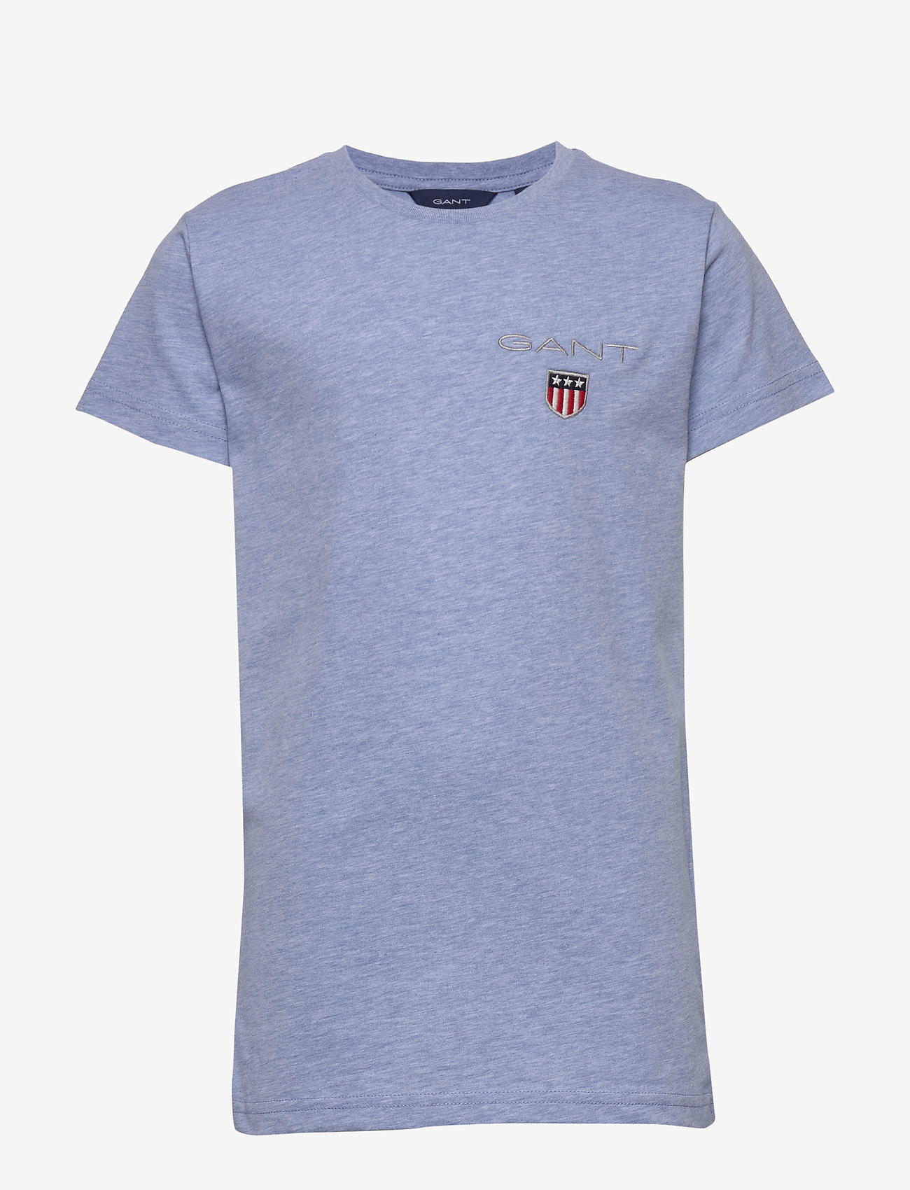 GANT - D1. MEDIUM SHIELD SS T-SHIRT - kurzärmelige - frost blue mel - 0