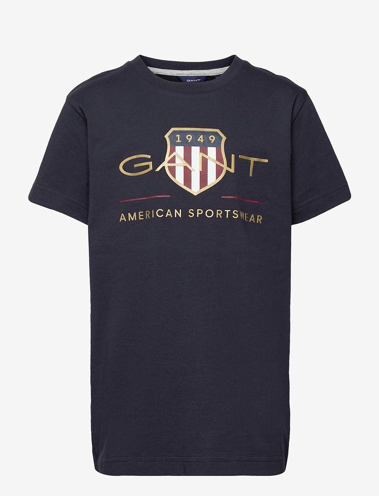 GANT - ARCHIVE SHIELD SS T-SHIRT - short-sleeved - evening blue - 0