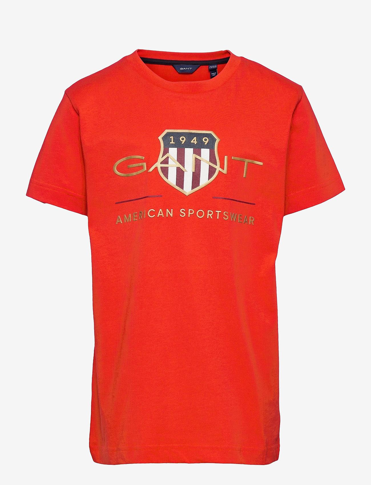 GANT - ARCHIVE SHIELD SS T-SHIRT - short-sleeved - lava red - 0