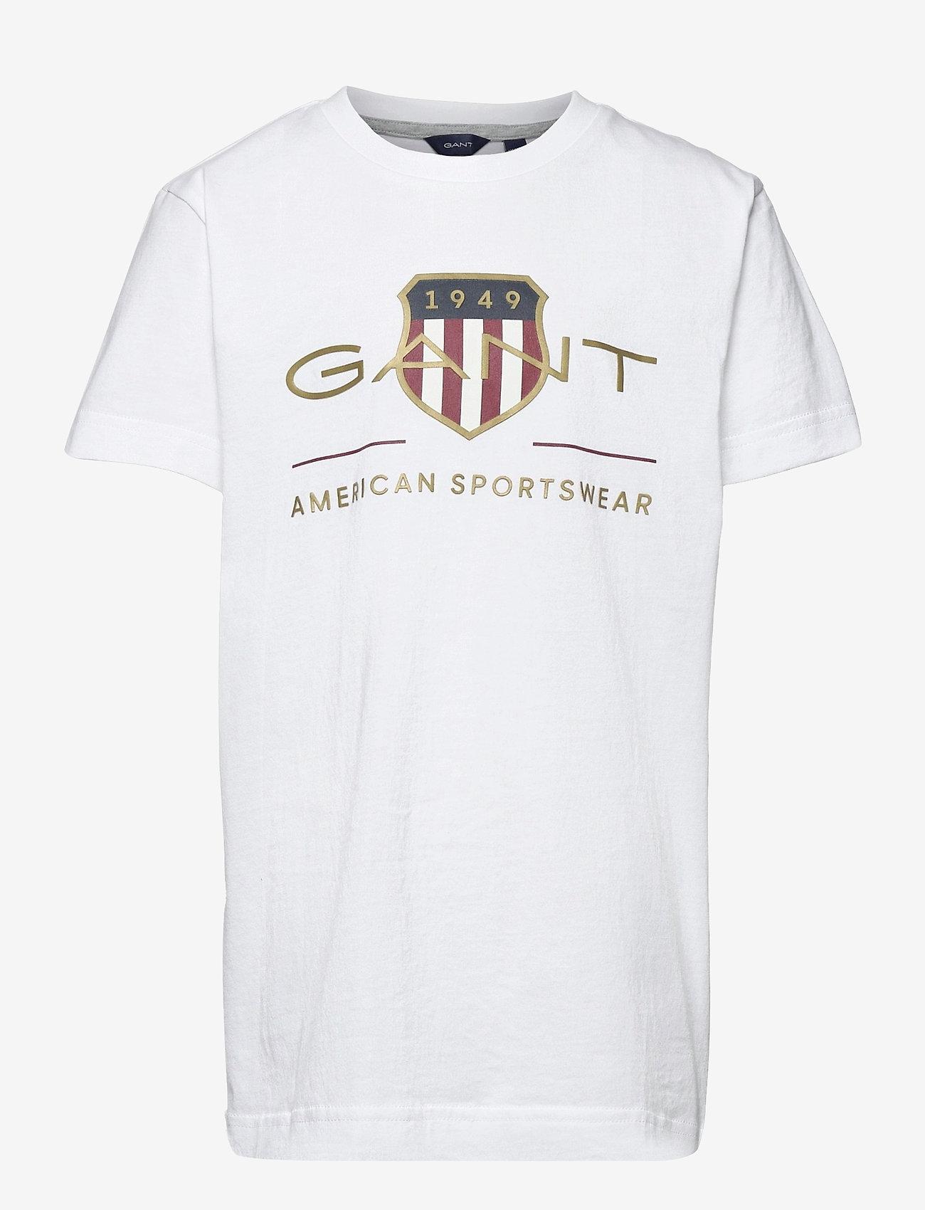 GANT - ARCHIVE SHIELD SS T-SHIRT - short-sleeved - white - 0