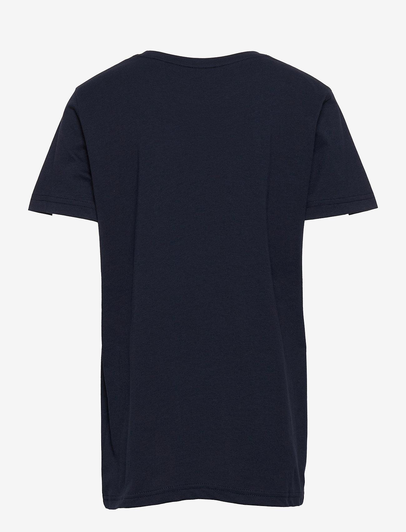 GANT - D2. NEW HAVEN BANNER SS T-SHIRT - short-sleeved - evening blue - 1