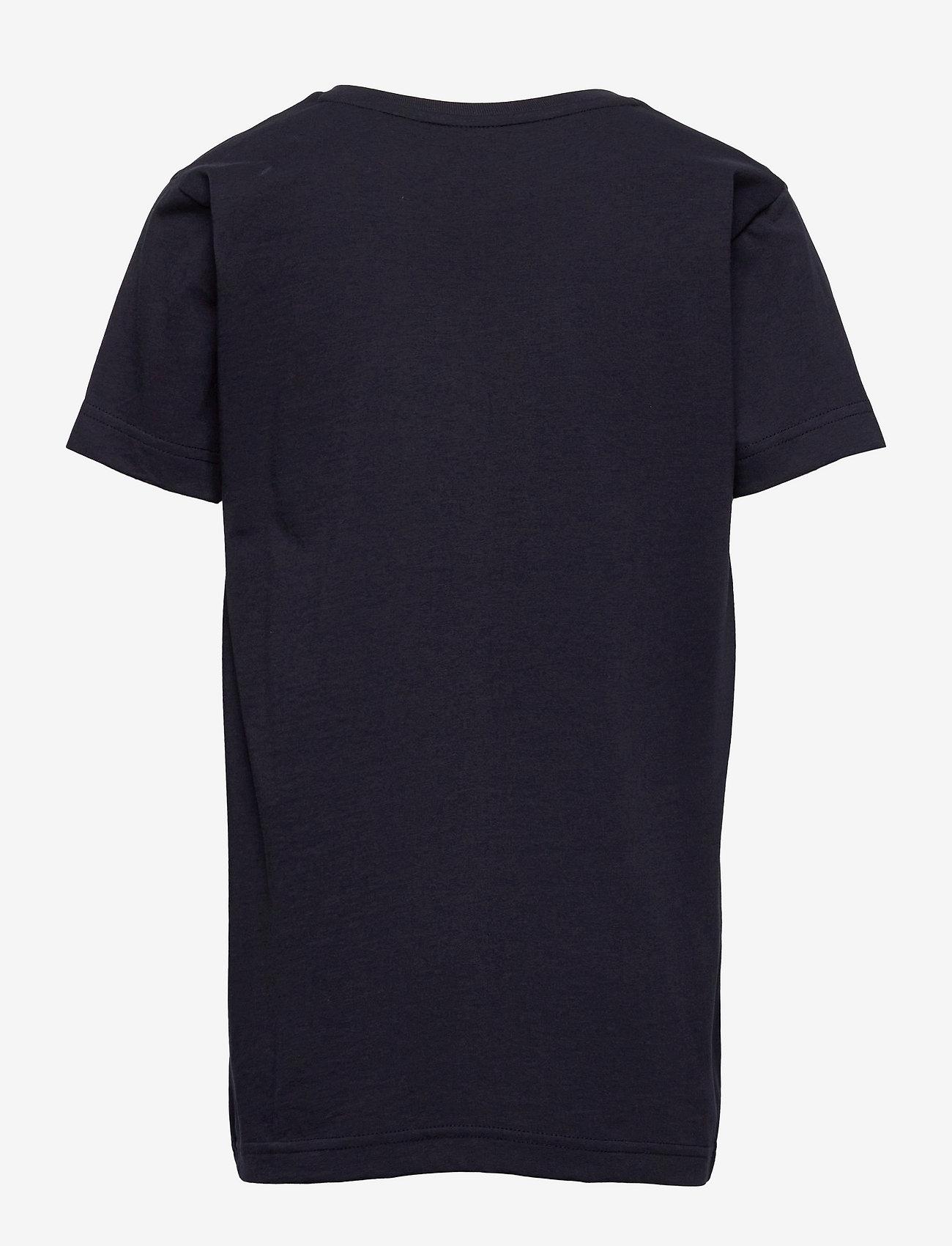 GANT - ARCHIVE SHIELD EMB SS T-SHIRT - short-sleeved - evening blue - 1