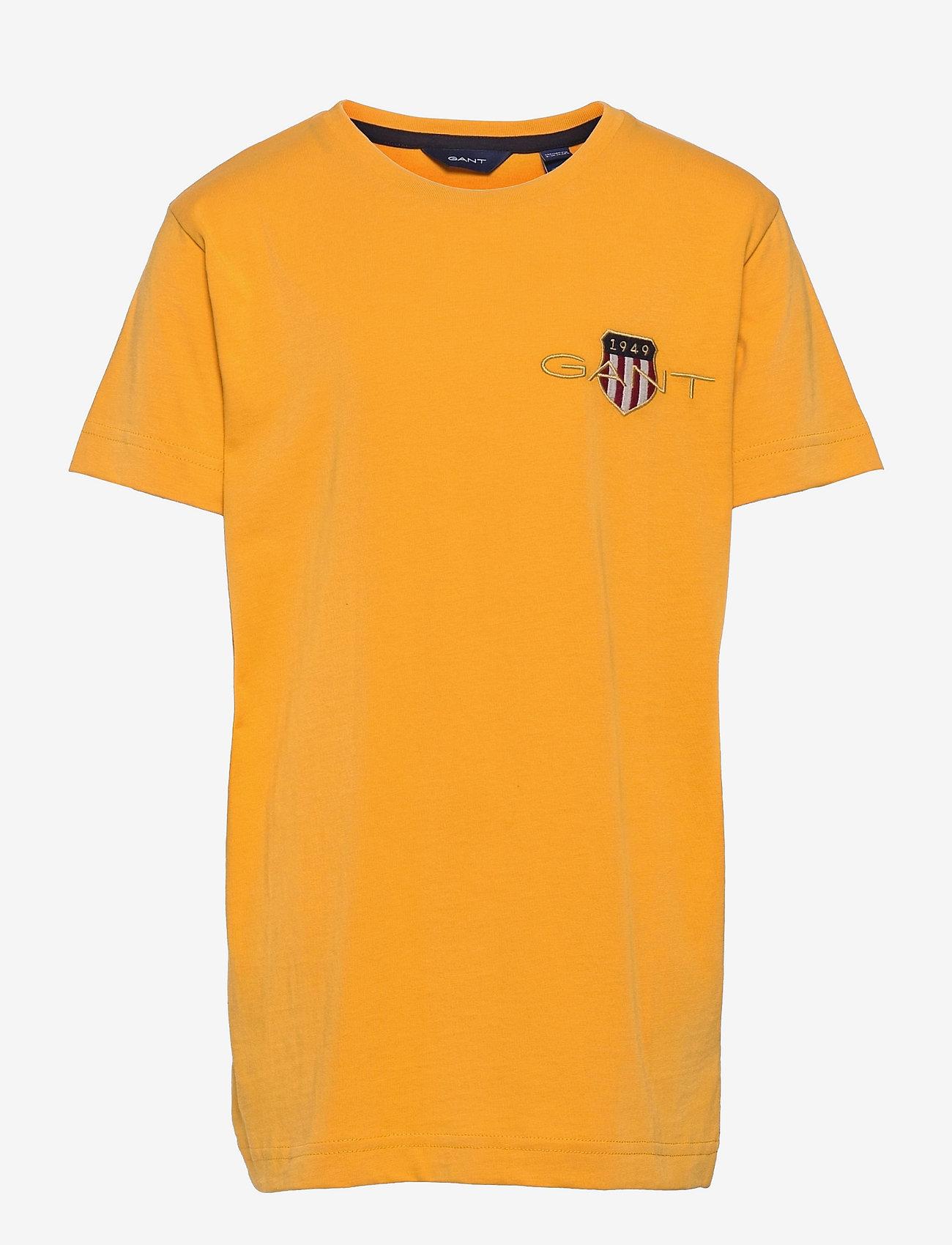 GANT - ARCHIVE SHIELD EMB SS T-SHIRT - short-sleeved - ivy gold - 0