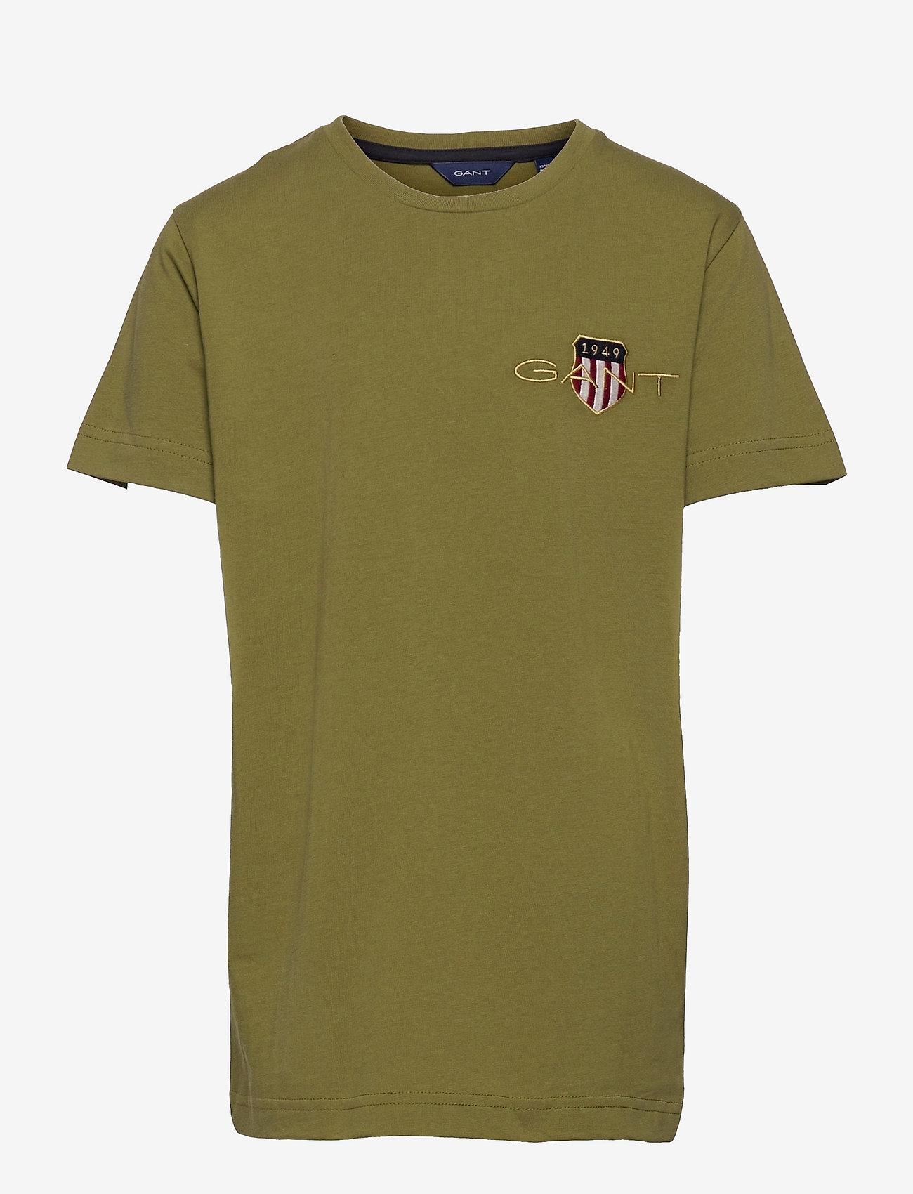 GANT - ARCHIVE SHIELD EMB SS T-SHIRT - short-sleeved - olive branch green - 0