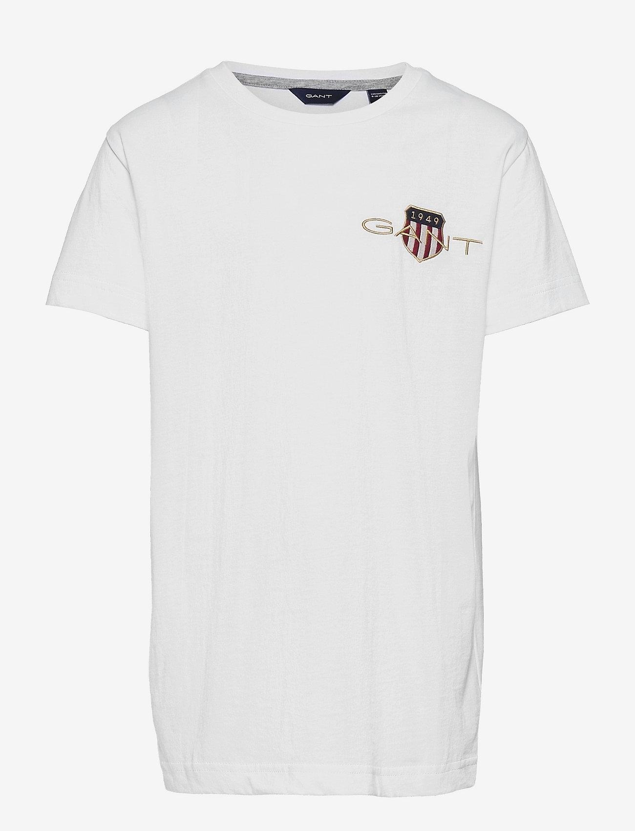 GANT - ARCHIVE SHIELD EMB SS T-SHIRT - short-sleeved - white - 0