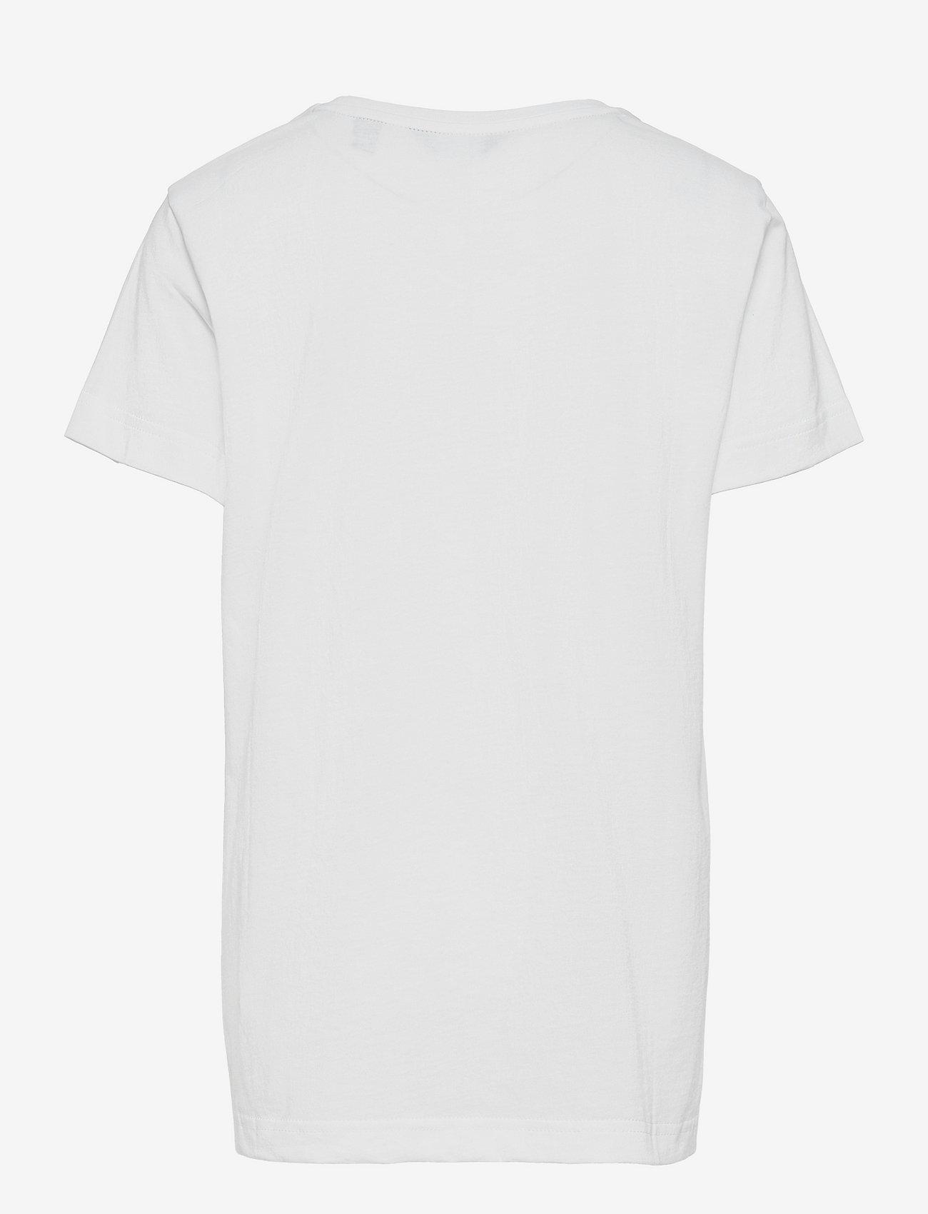 GANT - ARCHIVE SHIELD EMB SS T-SHIRT - short-sleeved - white - 1