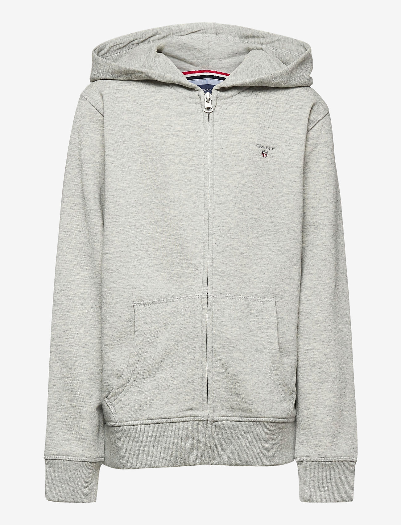 GANT - THE ORIGINAL FULL ZIP SWEAT HOODIE - hættetrøjer - light grey melange - 0
