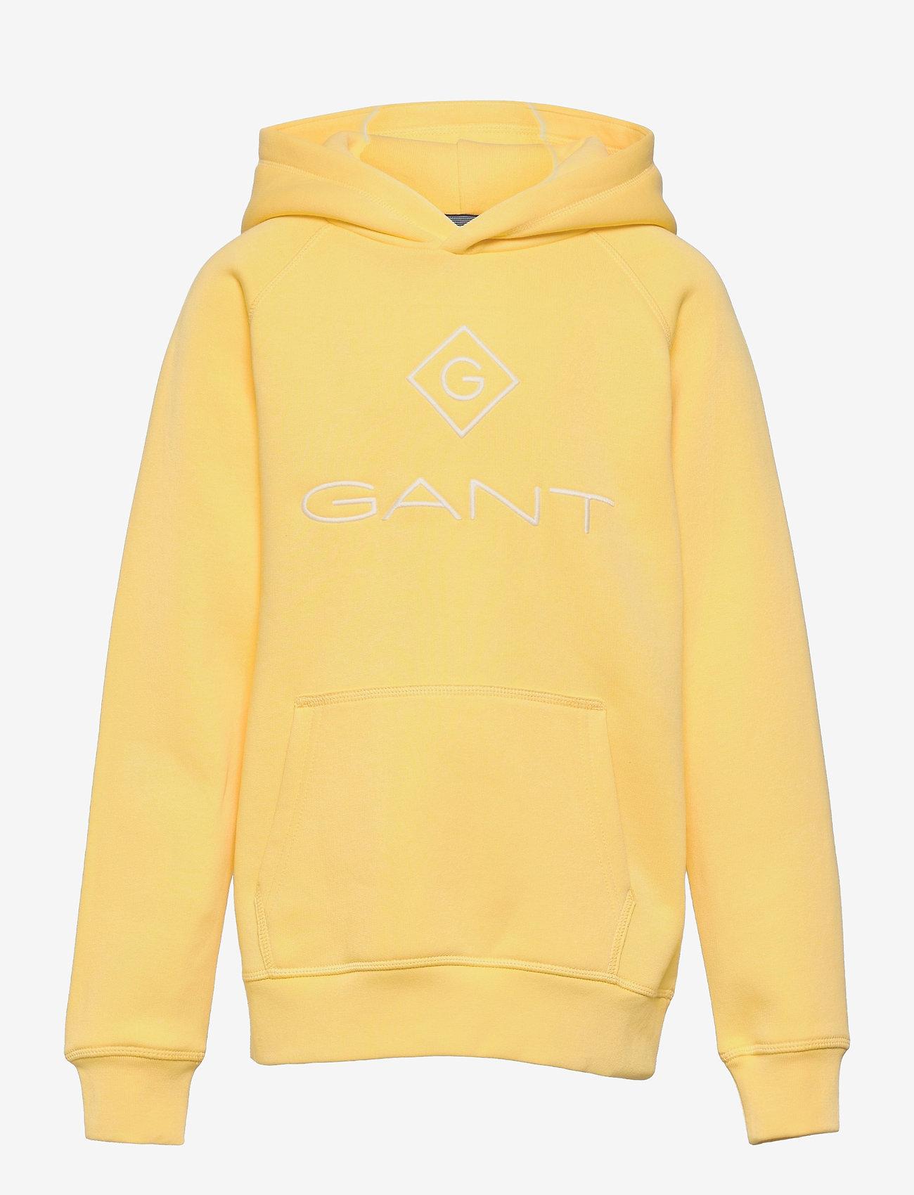 GANT - GANT LOCK-UP SWEAT HOODIE - hoodies - brimstone yellow - 0