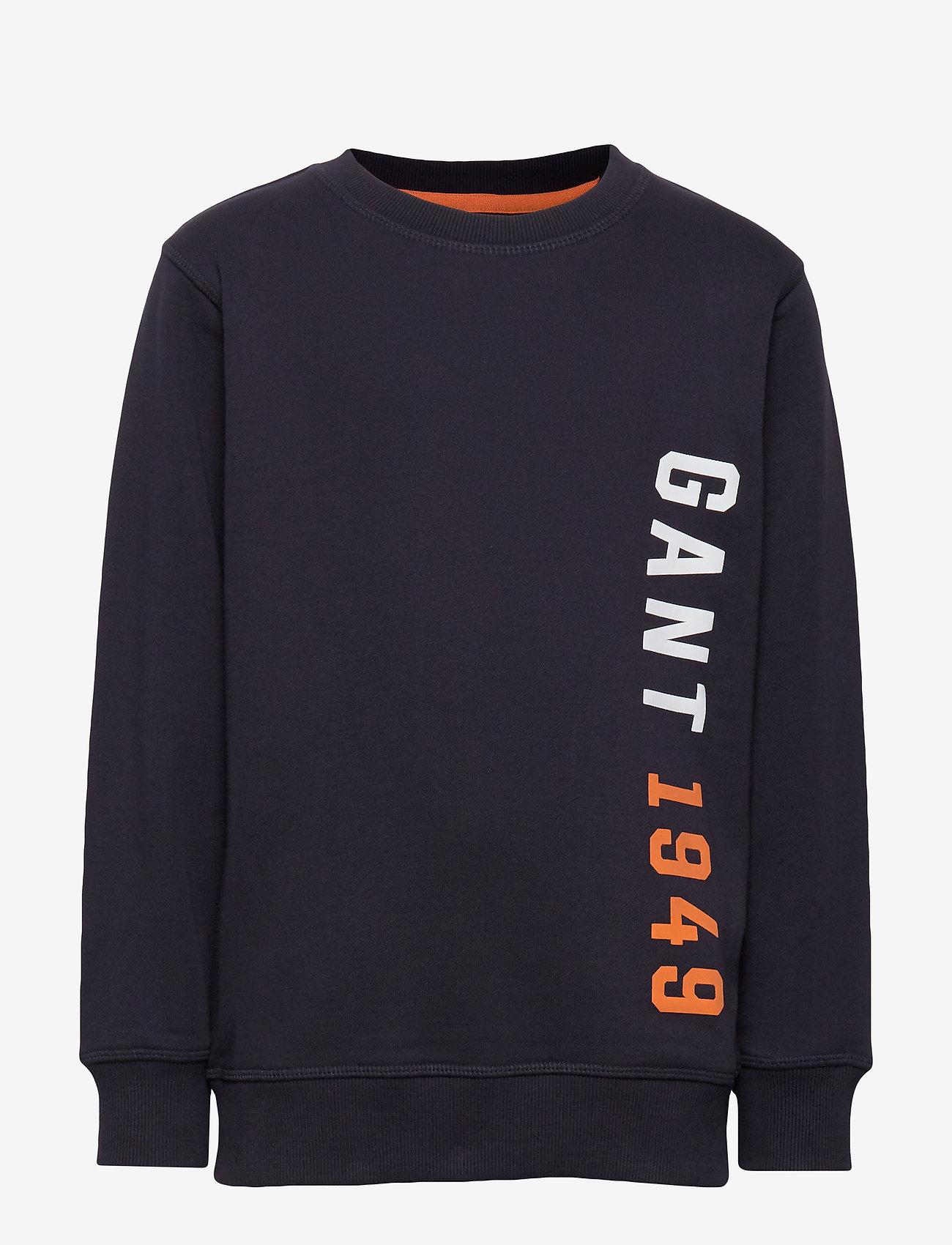 GANT - D1. COLOR C-NECK SWEAT - sweatshirts - evening blue - 0