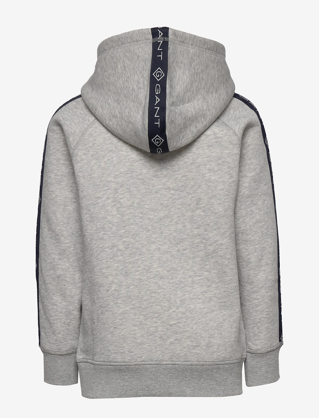 GANT - D1. LOCK UP STRIPE HOODIE - hættetrøjer - light grey melange - 1