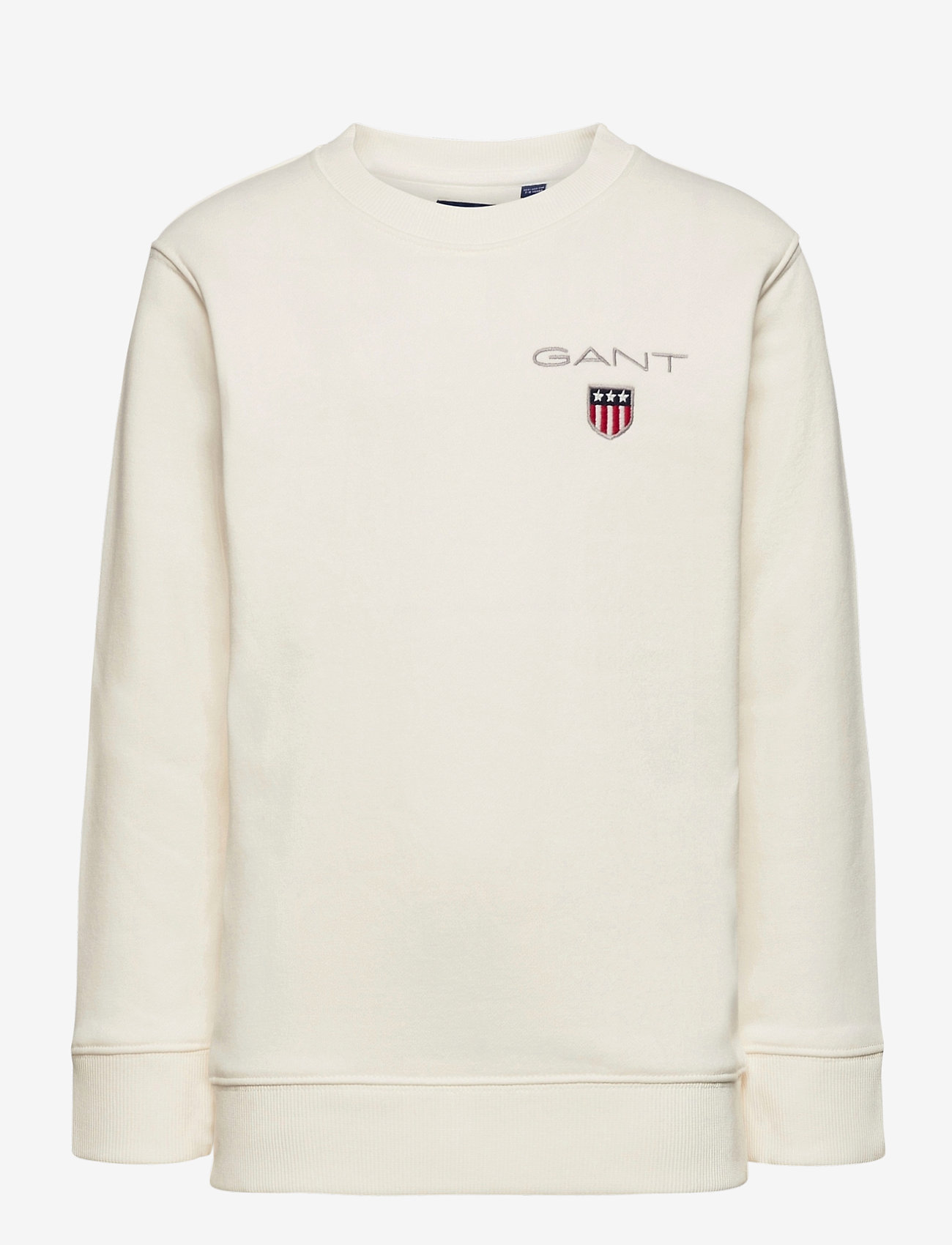 GANT - D1. MEDIUM SHIELD SWEAT C-NECK - sweatshirts - eggshell - 0