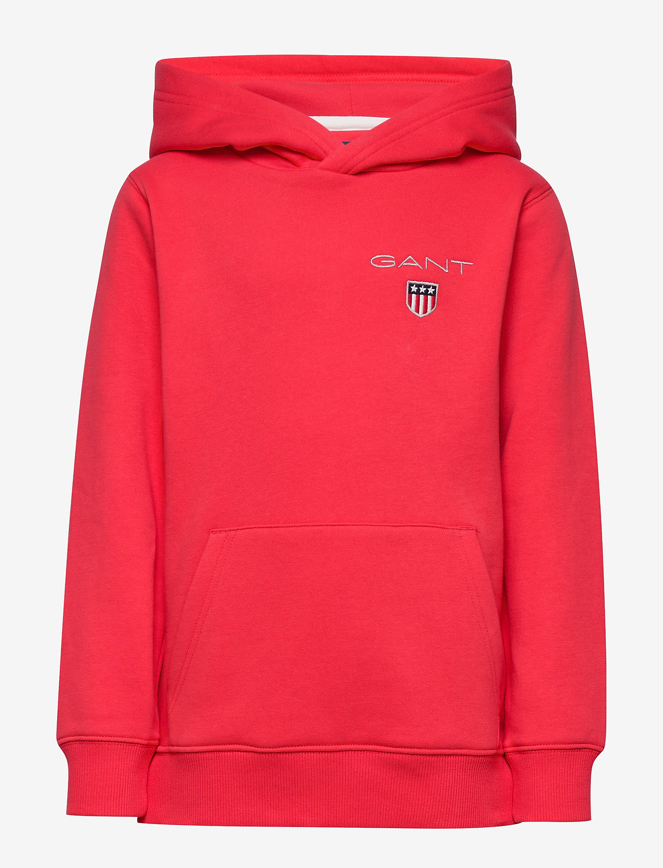 GANT - D1. MEDIUM SHIELD SWEAT HOODIE - hoodies - atomic orange - 0