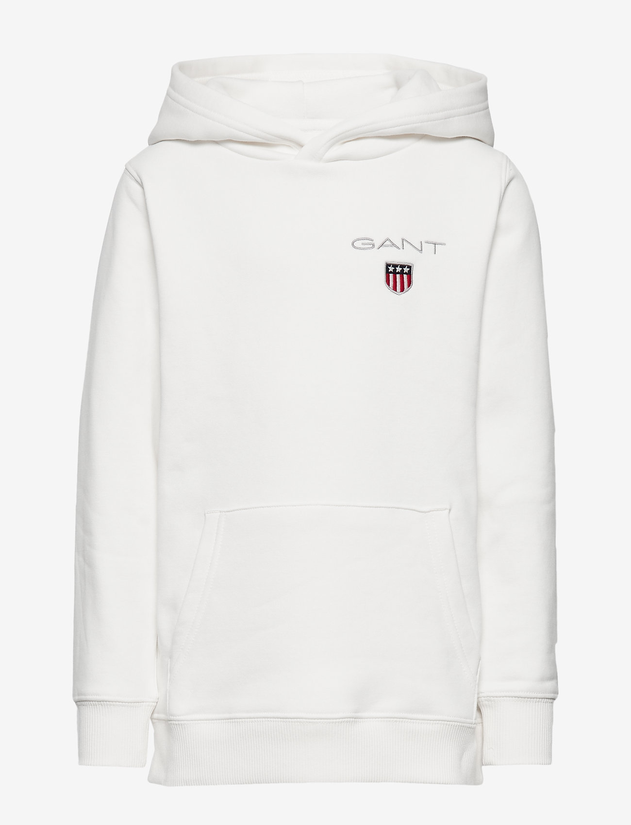 GANT - D1. MEDIUM SHIELD SWEAT HOODIE - hoodies - eggshell - 0