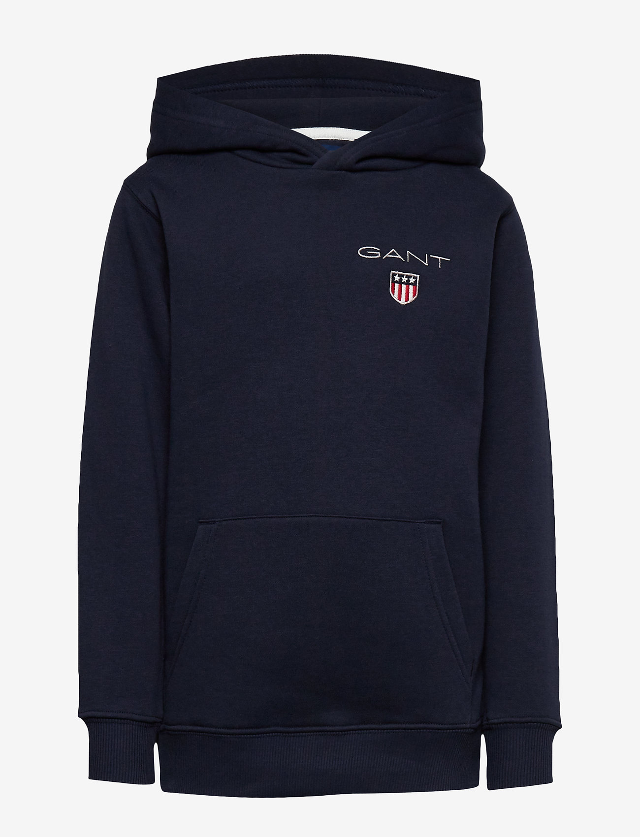 GANT - D1. MEDIUM SHIELD SWEAT HOODIE - hoodies - evening blue - 0