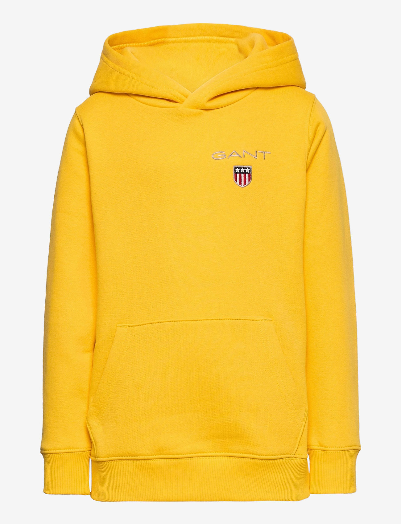 GANT - D1. MEDIUM SHIELD SWEAT HOODIE - hoodies - solar power yellow - 0