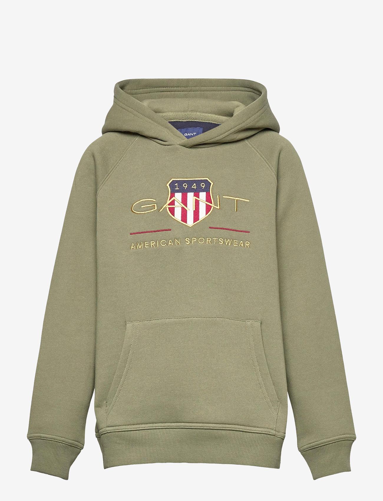 GANT - ARCHIVE SHIELD HOODIE - hoodies - four leaf clover - 0