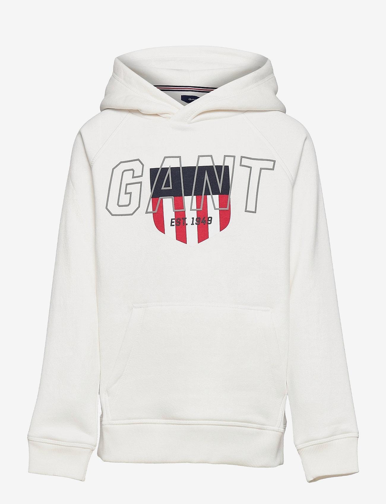 GANT - D2. SPORTY SHIELD HOODIE - hoodies - eggshell - 0
