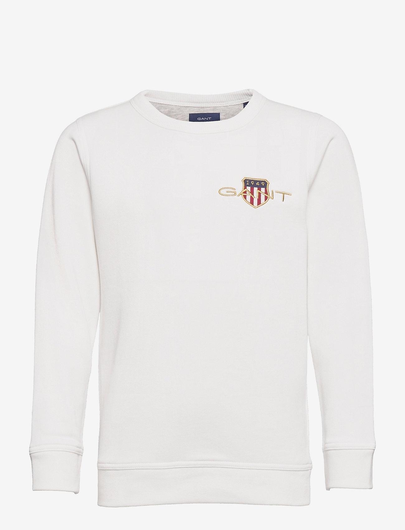 GANT - ARCHIVE SHIELD EMB C-NECK - sweatshirts - eggshell - 0