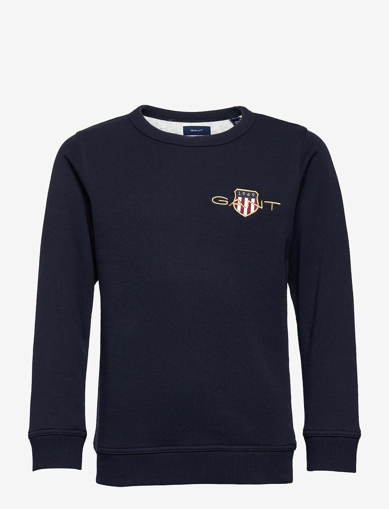 GANT - ARCHIVE SHIELD EMB C-NECK - sweatshirts - evening blue - 0