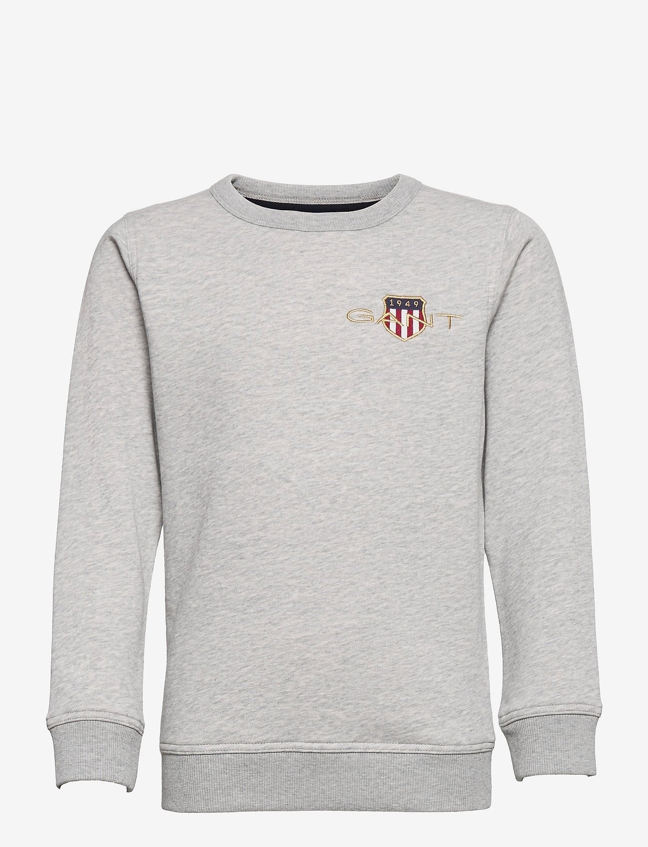 GANT - ARCHIVE SHIELD EMB C-NECK - sweatshirts - light grey melange - 0