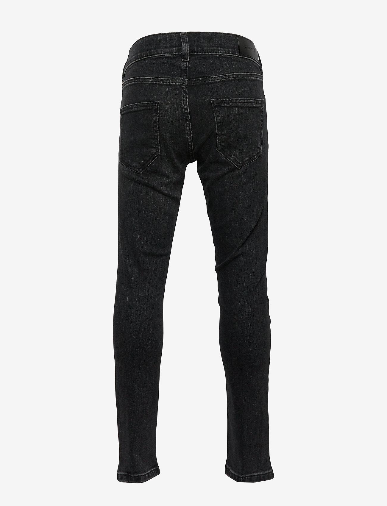 GANT - GANT SLIM JEANS - jeans - black raw - 1