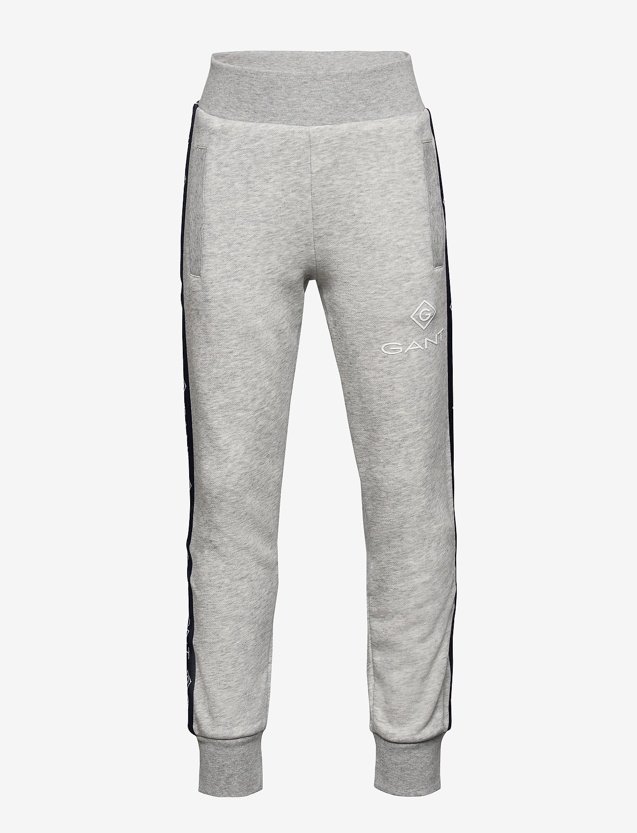 GANT - D1. LOCK UP STRIPE PANTS - jogginghosen - light grey melange - 0