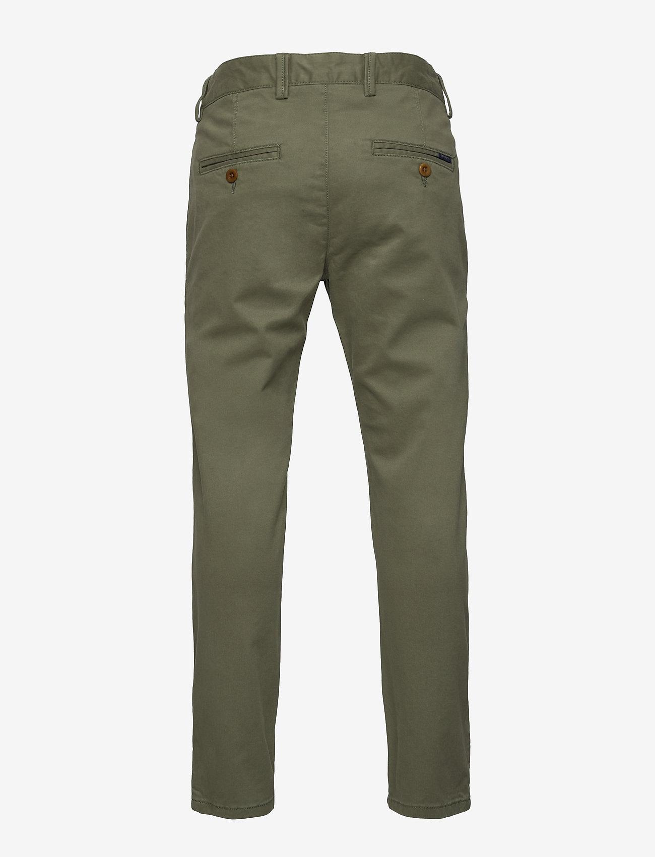 GANT - GANT CHINO - trousers - four leaf clover - 1