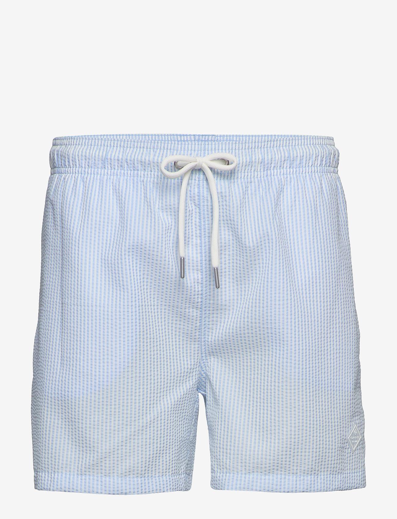 Gant - SEERSUCKER SWIM SHORTS CF - swim shorts - capri blue