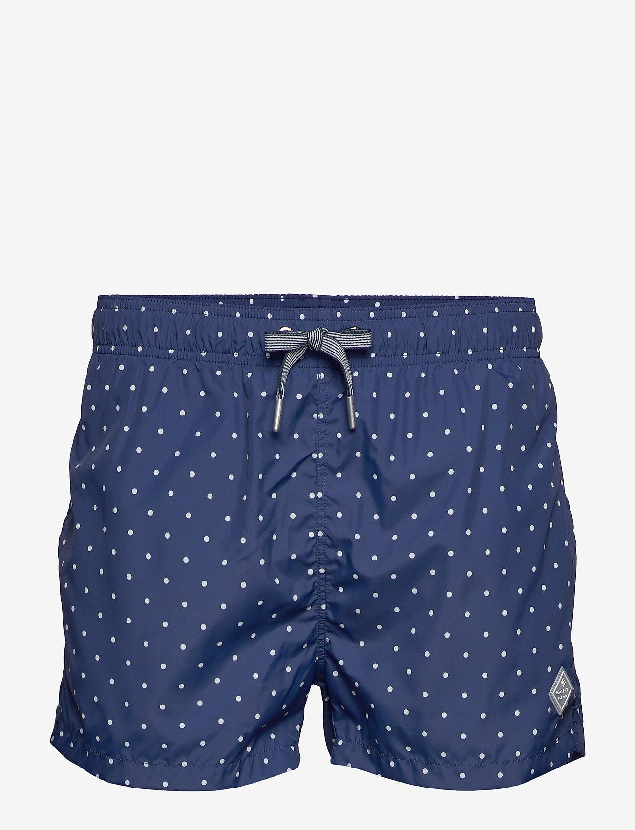Gant - POLKA DOT SWIM SHORTS LW SHORT CUT - swim shorts - deep blue