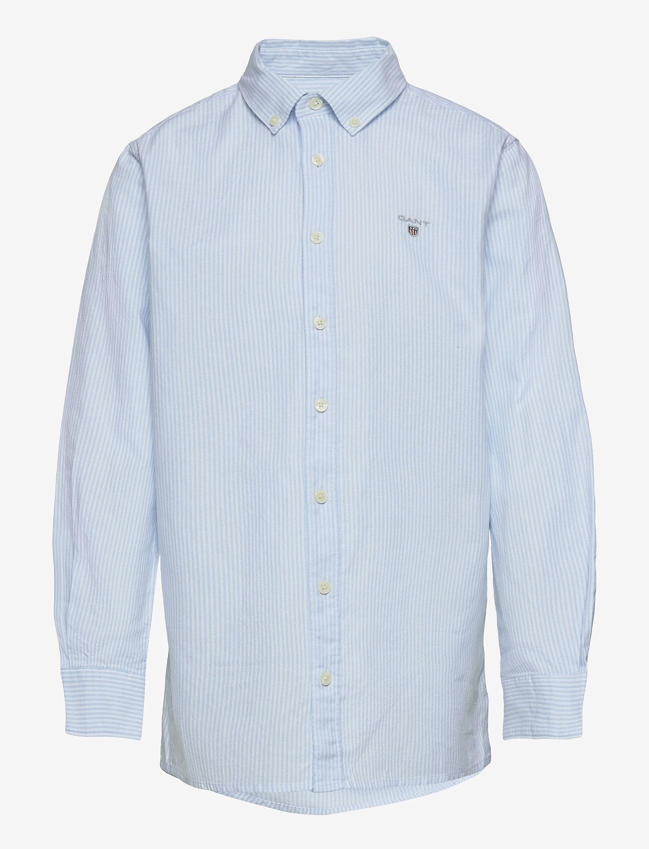 GANT - ARCHIVE OXFORD STRIPE BD SHIRT - shirts - capri blue - 0
