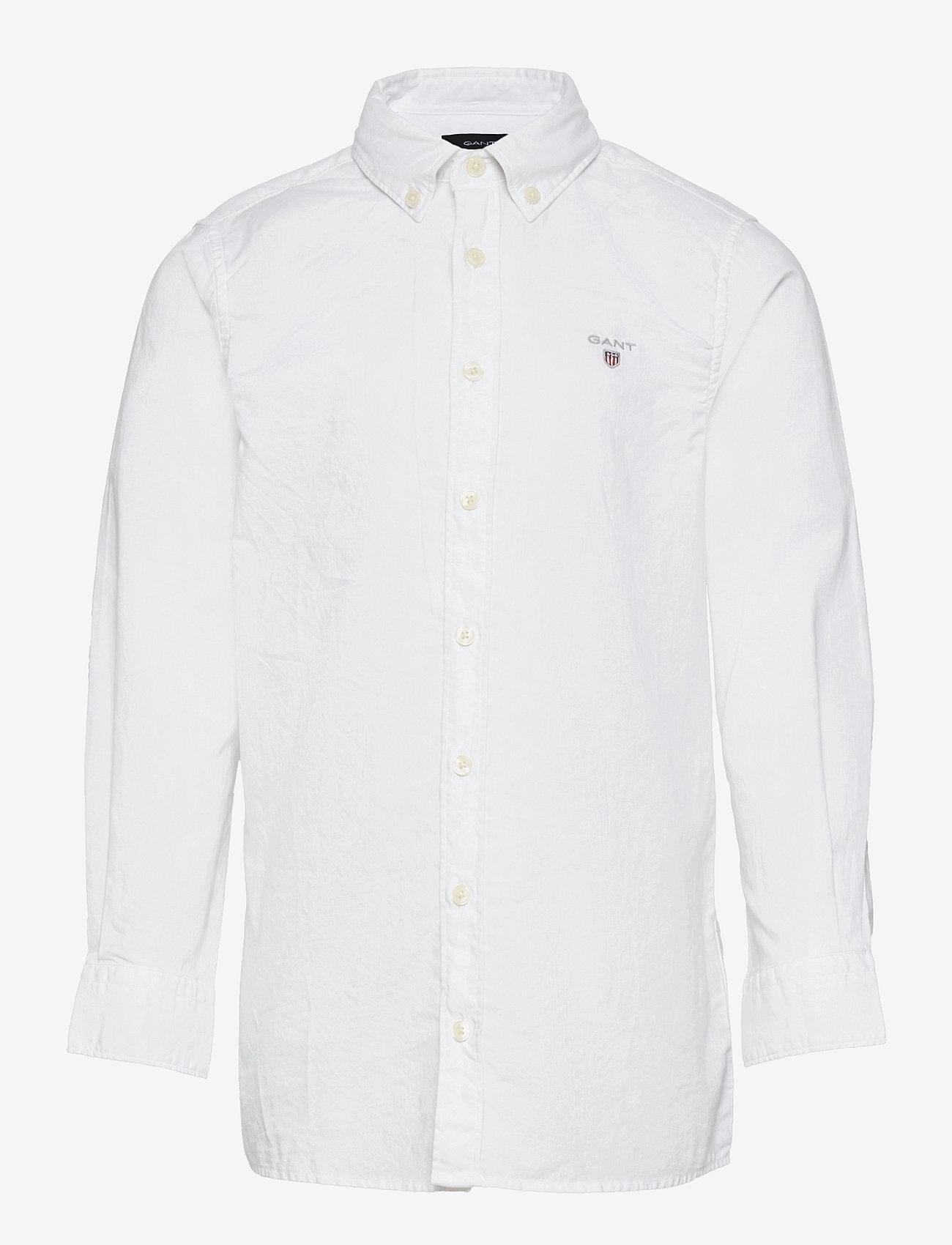 GANT - THE ORIGINAL TWILL SHIRT - overhemden - white - 0