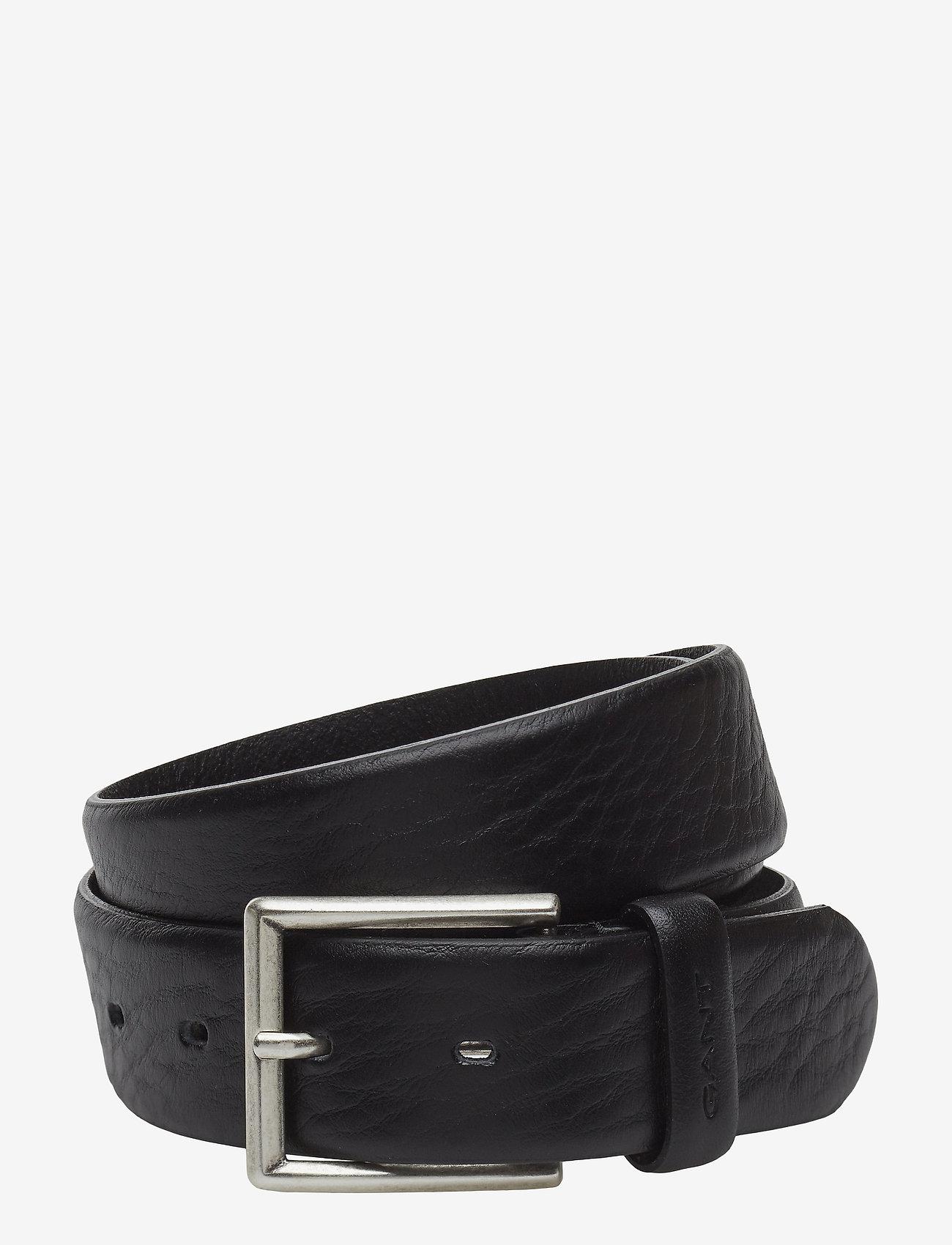 GANT - CLASSIC LEATHER BELT - belts - black - 0