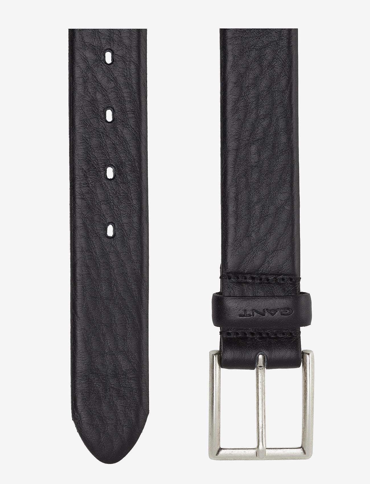 GANT - CLASSIC LEATHER BELT - belts - black - 1