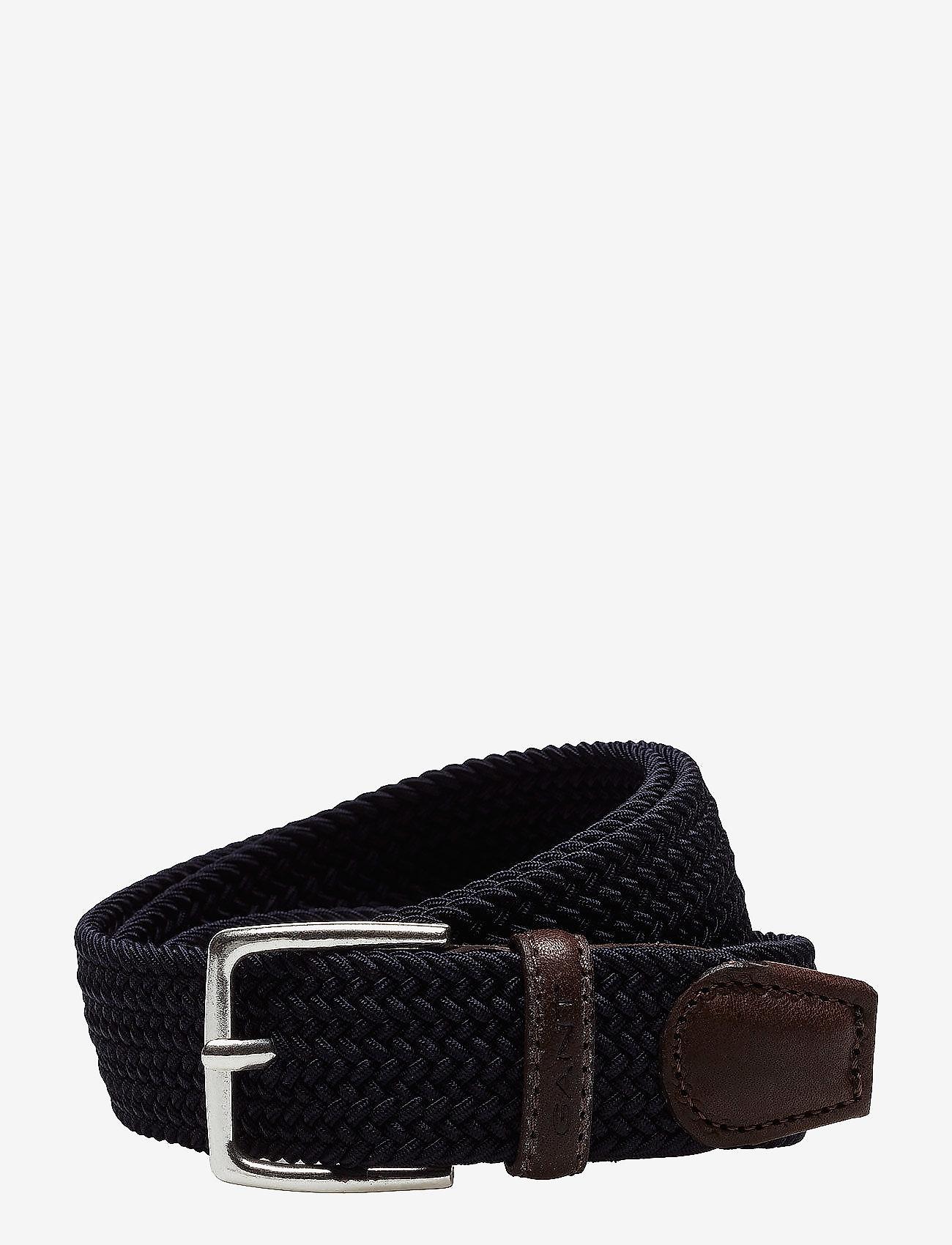 GANT - ELASTIC BRAID BELT - braided belts - marine - 0