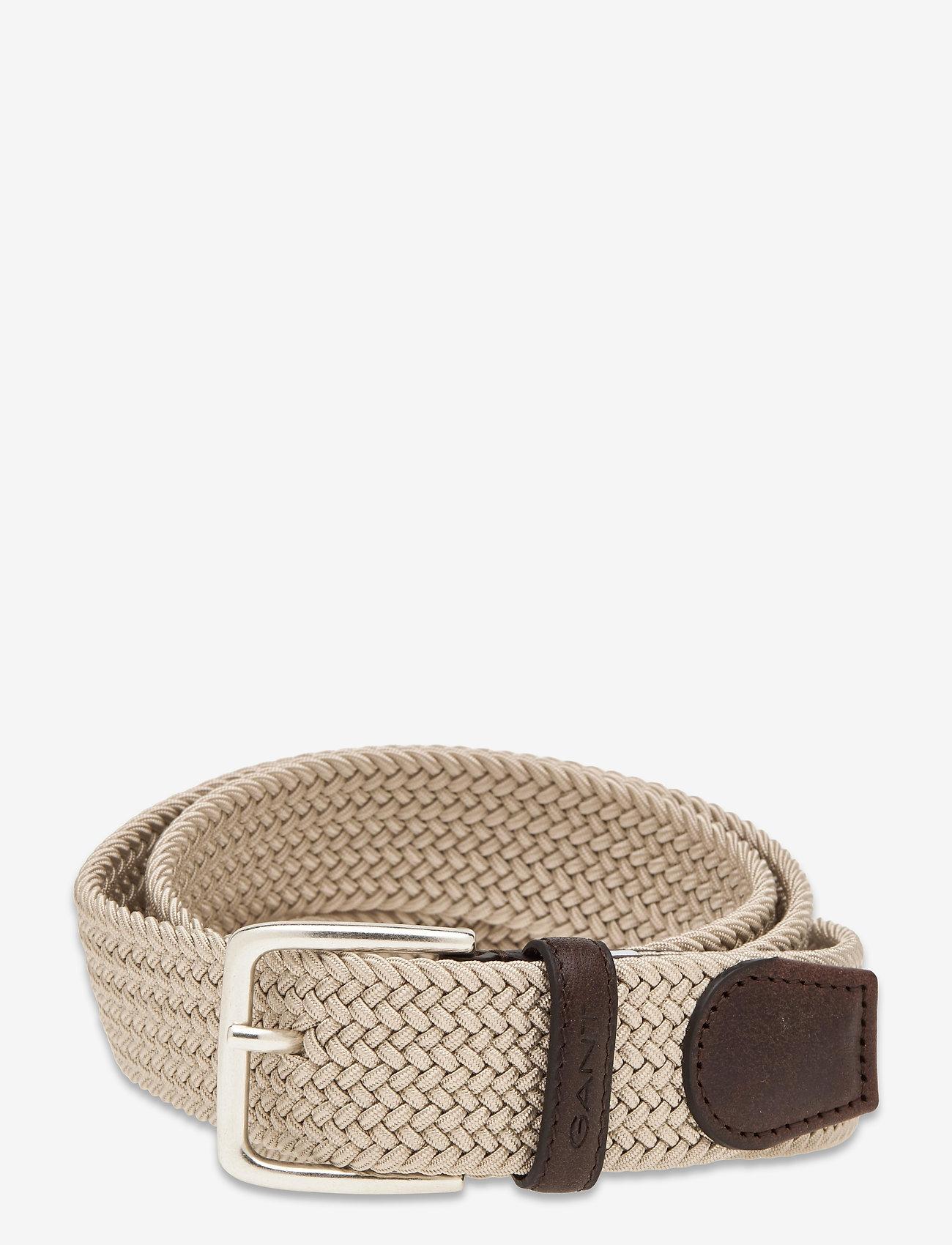 GANT - ELASTIC BRAID BELT - braided belts - putty - 0