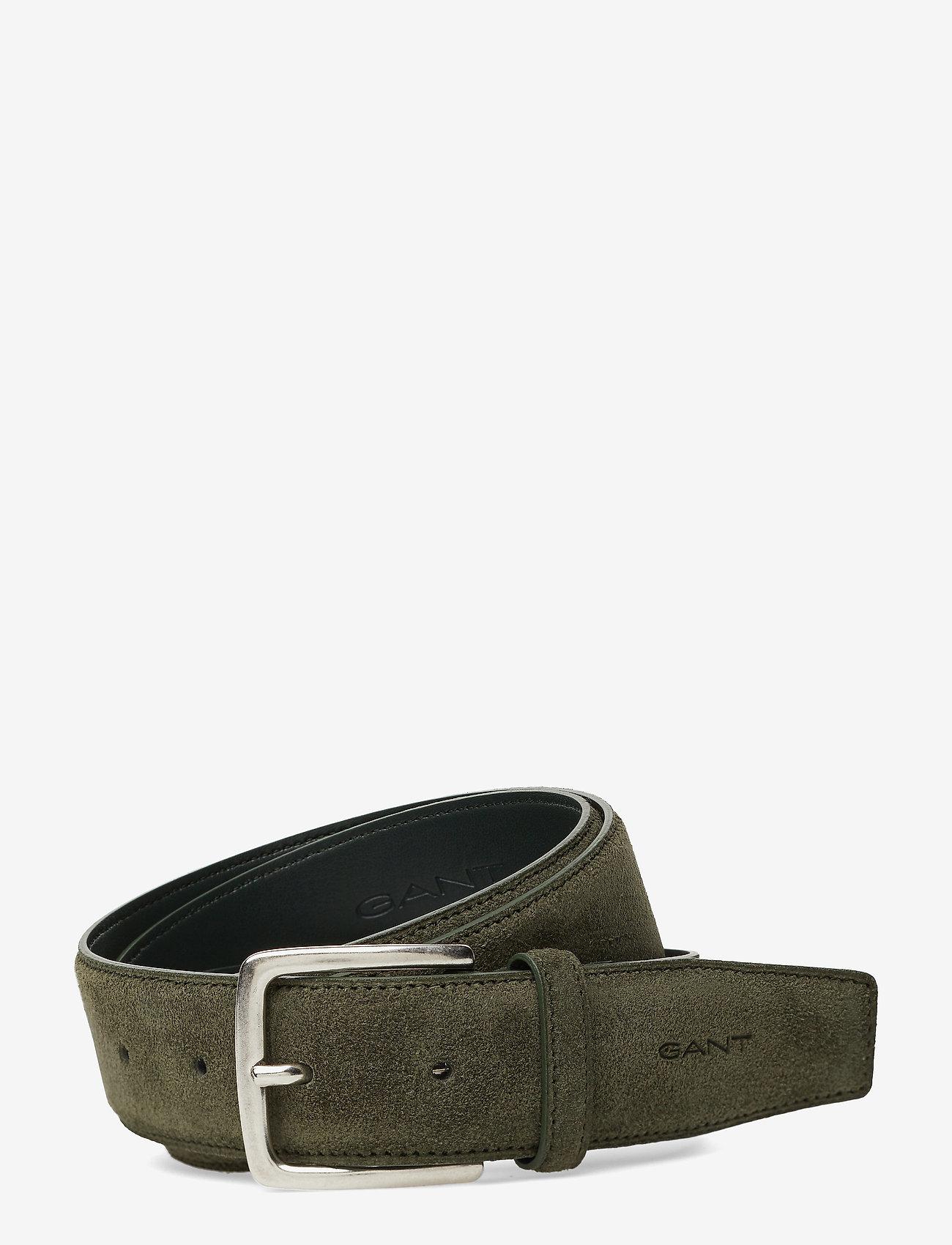 GANT - CLASSIC SUEDE BELT - belts - dark cactus - 0