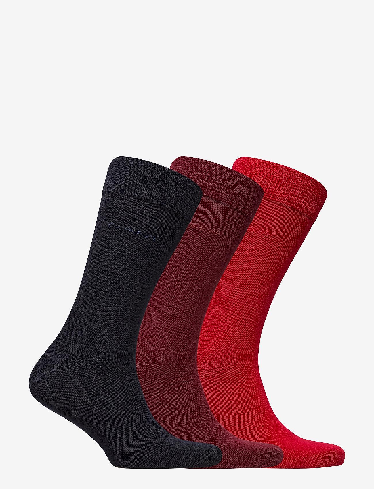 GANT - 3-PACK SOFT COTTON SOCKS - chaussettes régulières - bright red - 1