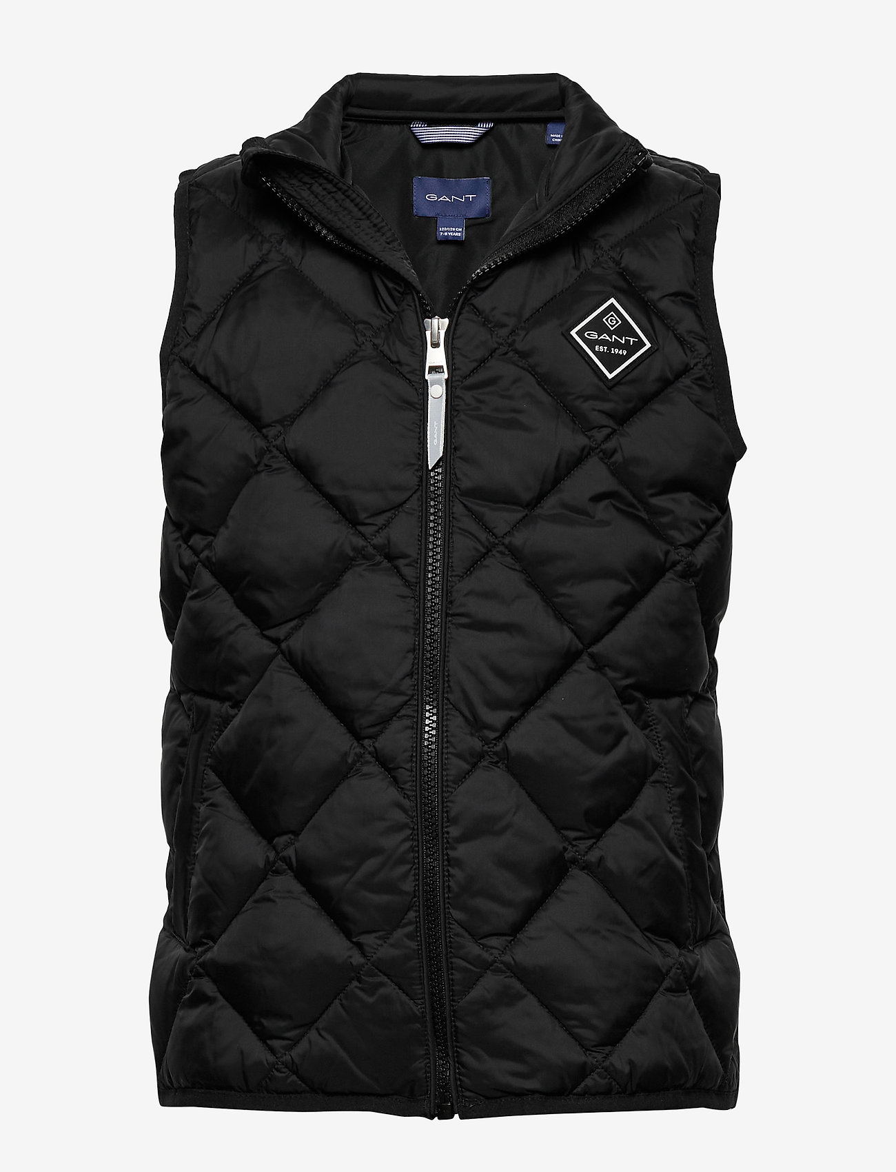 GANT - D1. DIAMOND PUFFER VEST - vests - black - 0